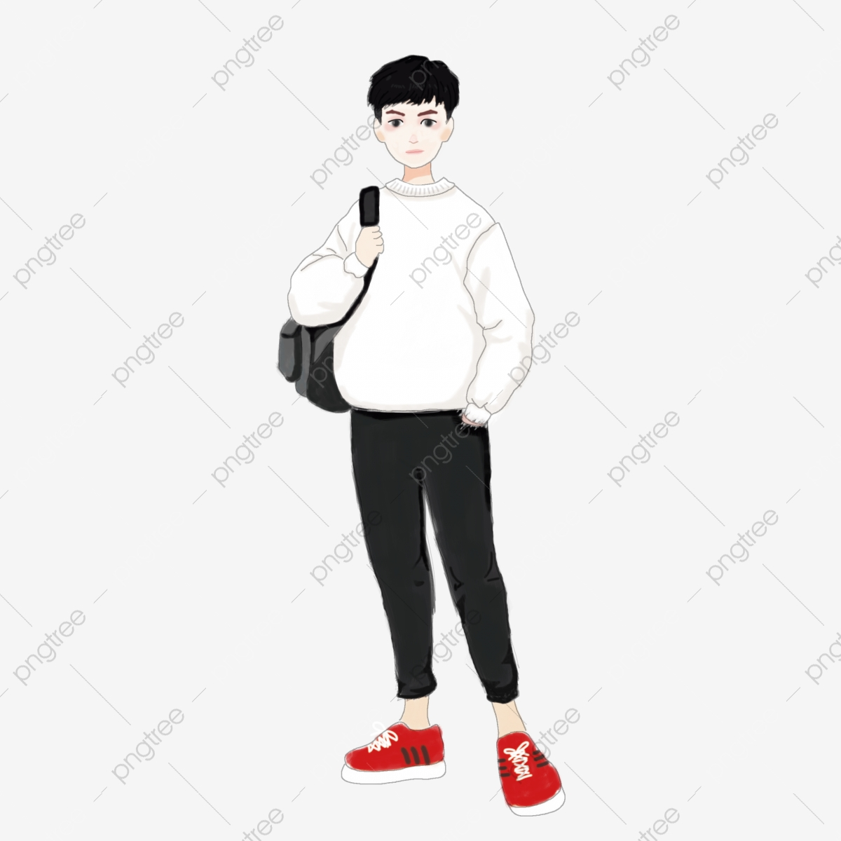 Hand Drawn Boys Carrying Bags Cartoon Image Hand Drawn Boy Carrying Bag Png Transparent Clipart Image And Psd File For Free Download