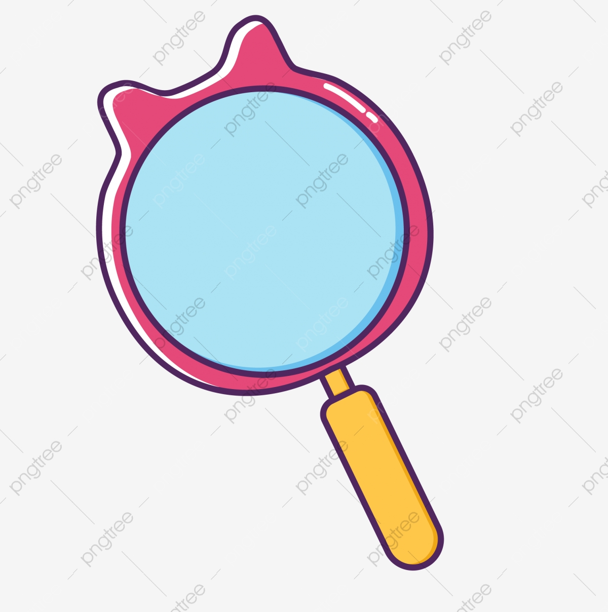 hand drawn cartoon cute pink cat magnifying glass hand drawn magnifying glass learning observation png and vector with transparent background for free download https pngtree com freepng hand drawn cartoon cute pink cat magnifying glass 4478810 html