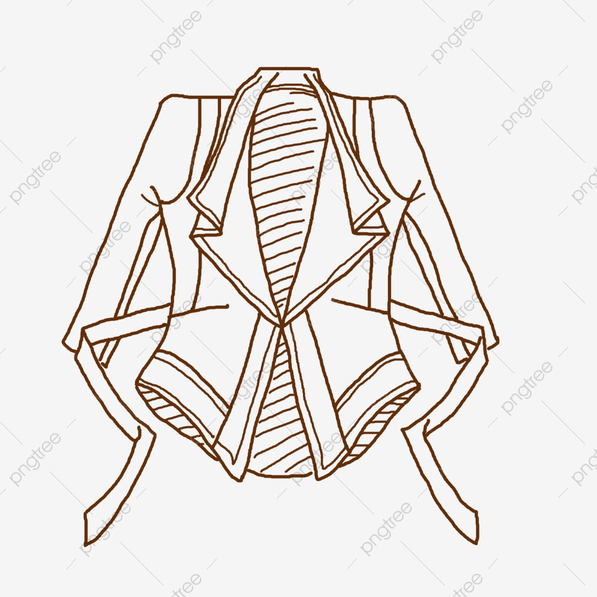 Hand Painted Line Drawing Leather Jacket Clothing Small Version Of Clothing Line Drawing Clothing Cartoon Illustration Png Transparent Clipart Image And Psd File For Free Download