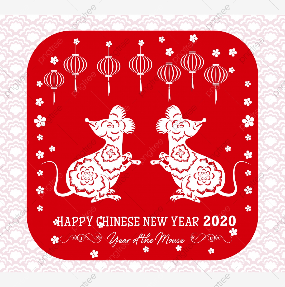 Happy New Chinese Year 2020 Year Of The Rat Year Of The