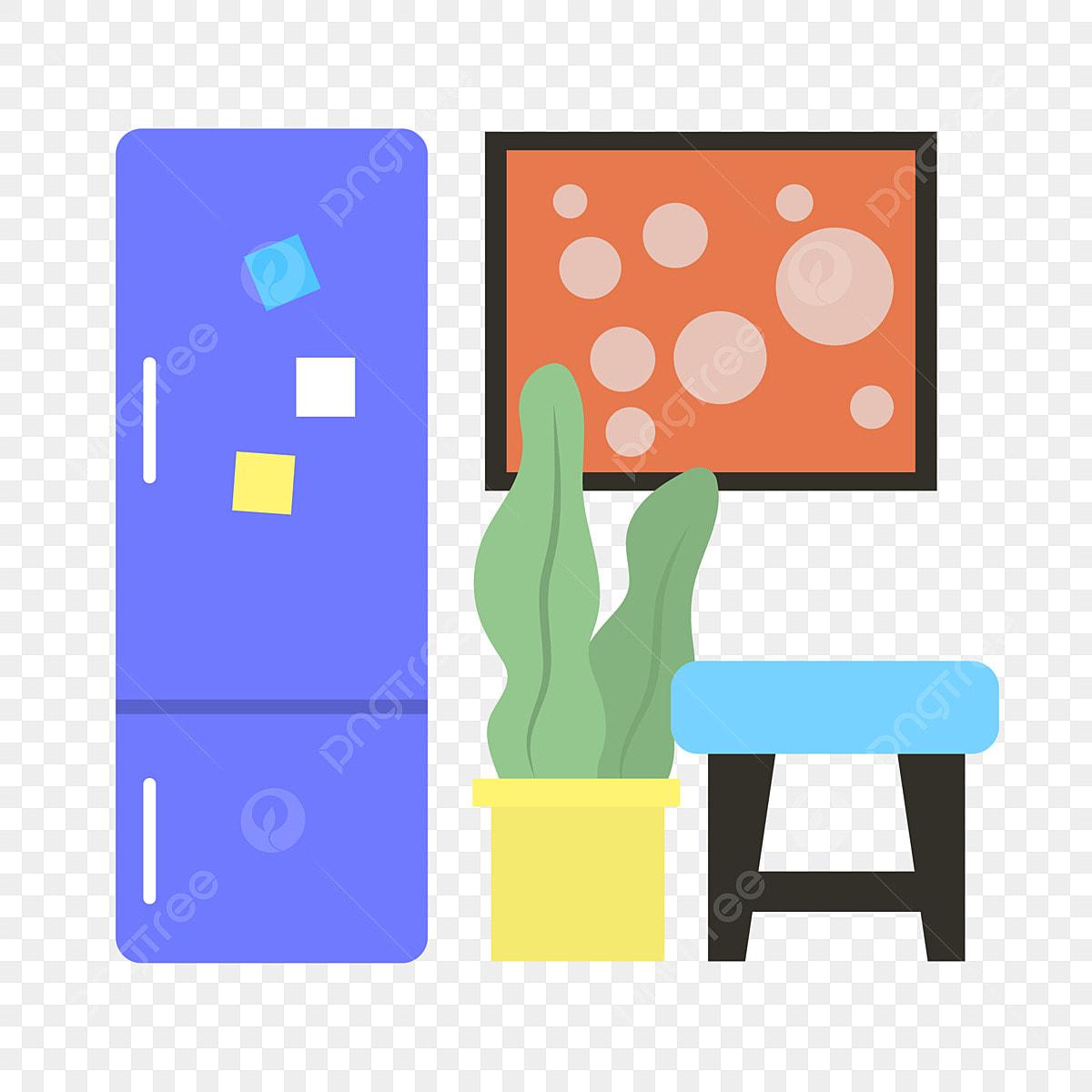 Décoration D Intérieur Peinture Murale réfrigérateur d'intérieur à la maison et peinture murale