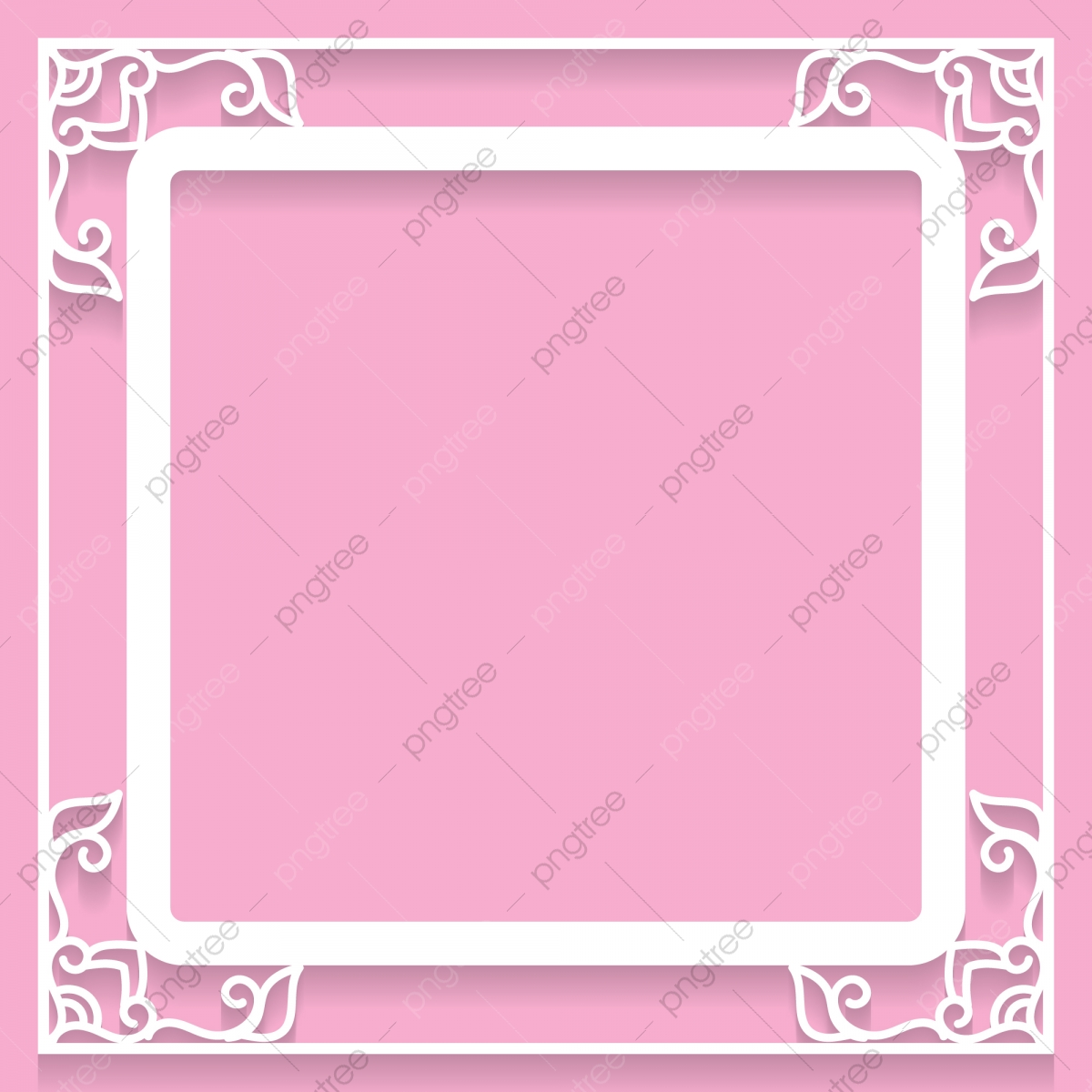 Lace Frame With Cutout Paper Decoration Vector Greeting Card