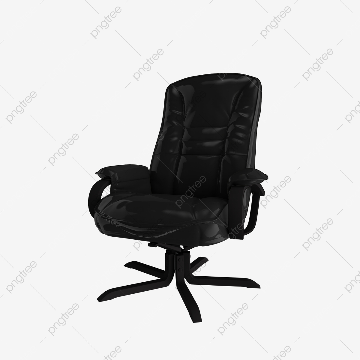 Black leather sofa top - side view. Black leather sofa on ... |Clipart Black Leather Chair