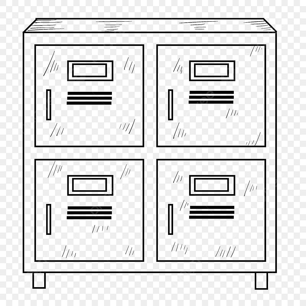 Décoration Pour Casier D École dessin au trait casier casier peint à la main casier de