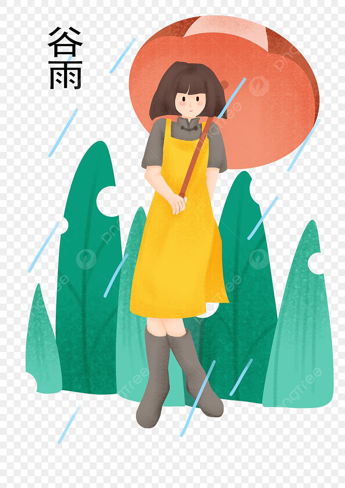 Illustration Du Personnage De Gu Yu Petite Fille Jouant Du