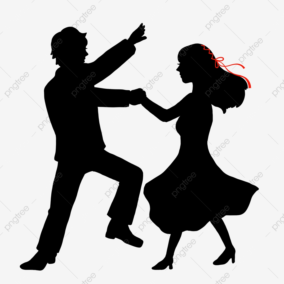 Men And Women Dancing Silhouette Illustration Free Element Download Male And Female Dance National Standard Social Dance Png Transparent Clipart Image And Psd File For Free Download