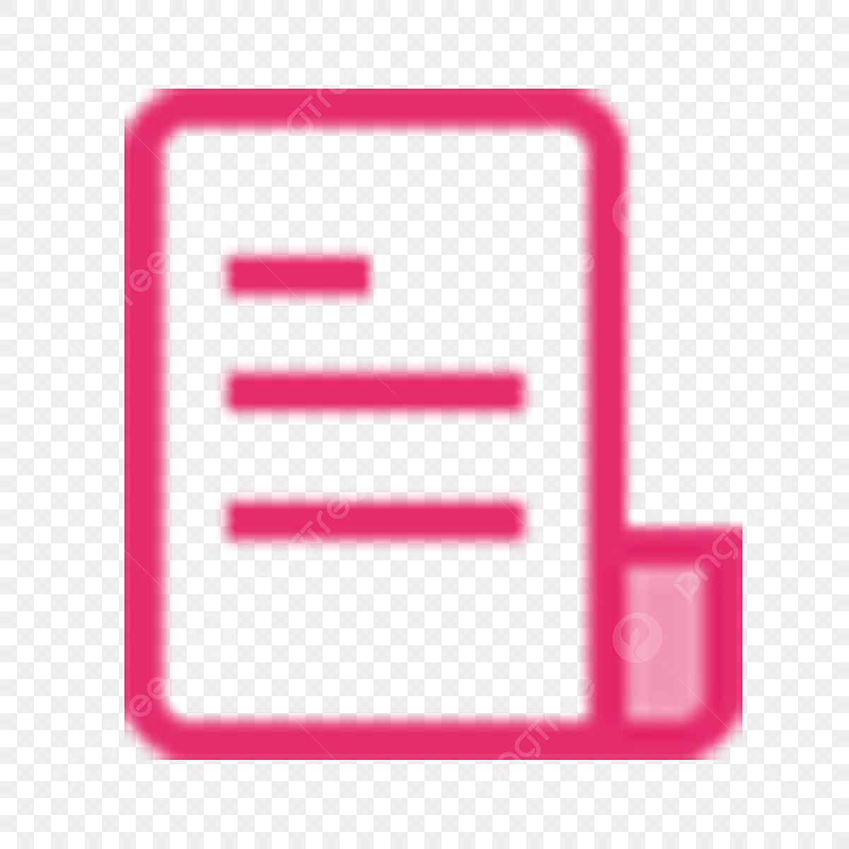 Livre Livre Papier Icone De Couleur Rose Papier Icone De