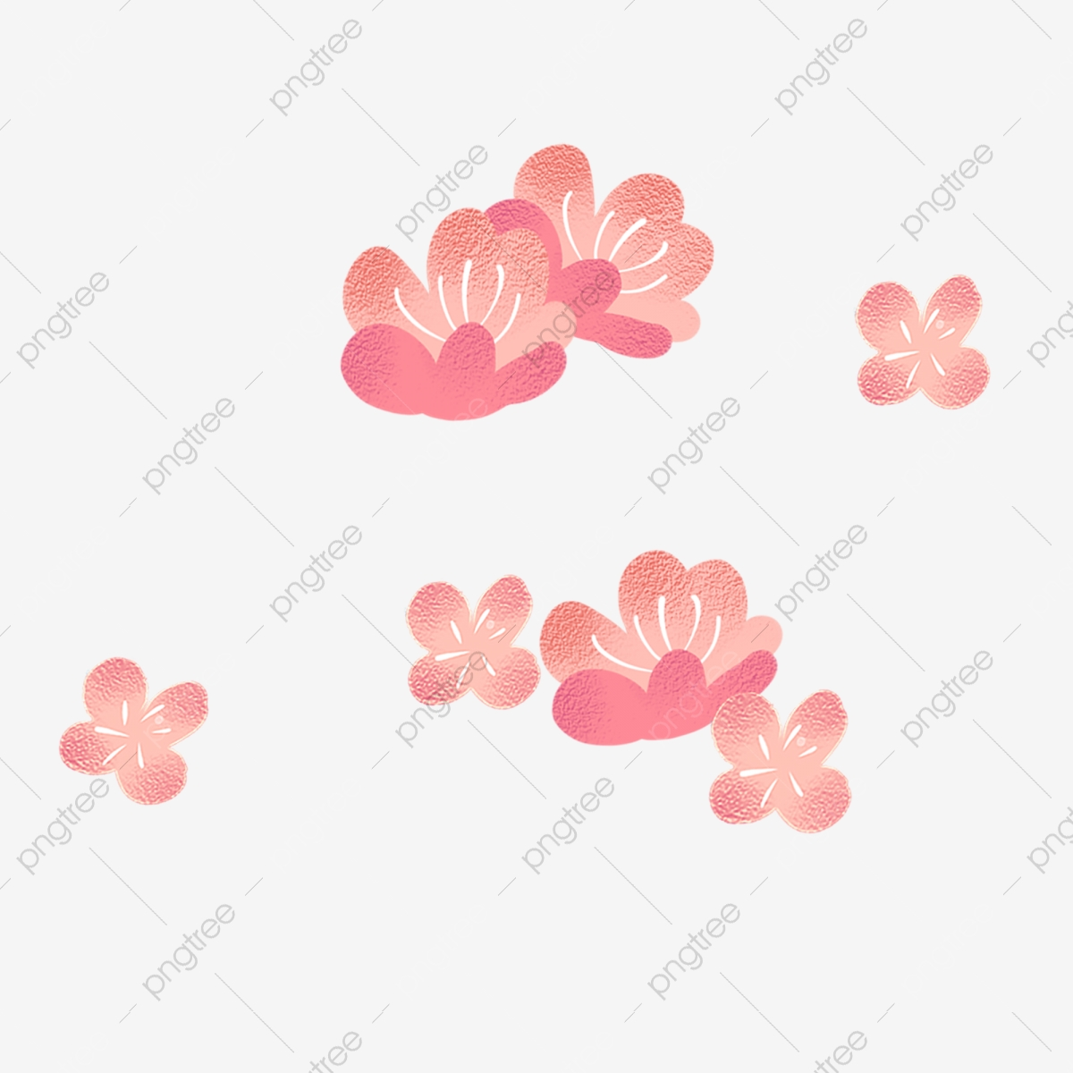 Pink Flower Cartoon Png Material Pink Flowers Cute Pink Flowers Flowers Png Transparent Clipart Image And Psd File For Free Download