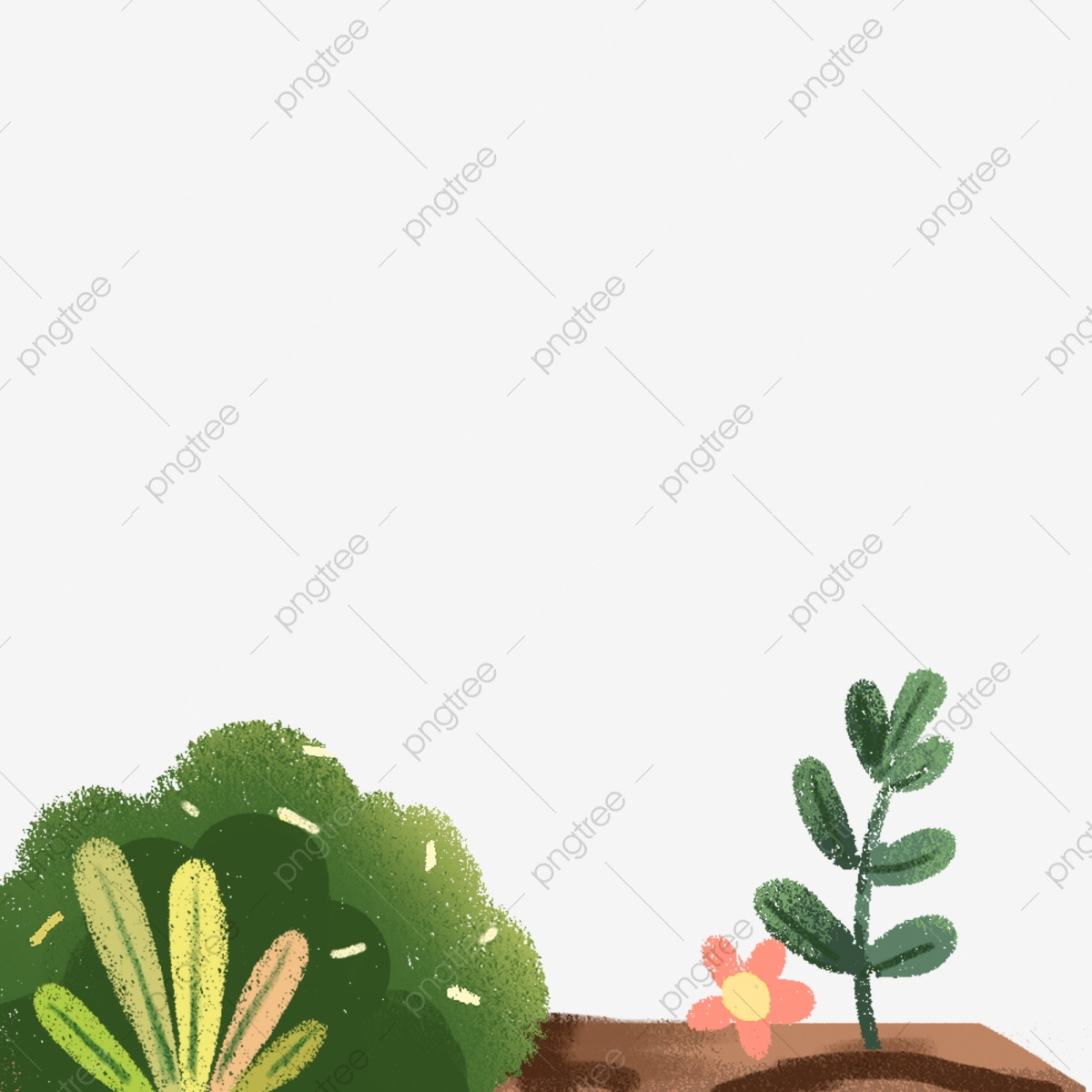 Plante De Dessin Animé Sol Croissance Des Plantes Plante De
