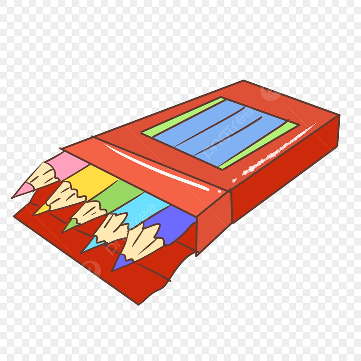 Hộp Bút Chì Màu đỏ Hộp Bút Chì Sáng Tạo Hộp Bút Chì Vẽ Tay