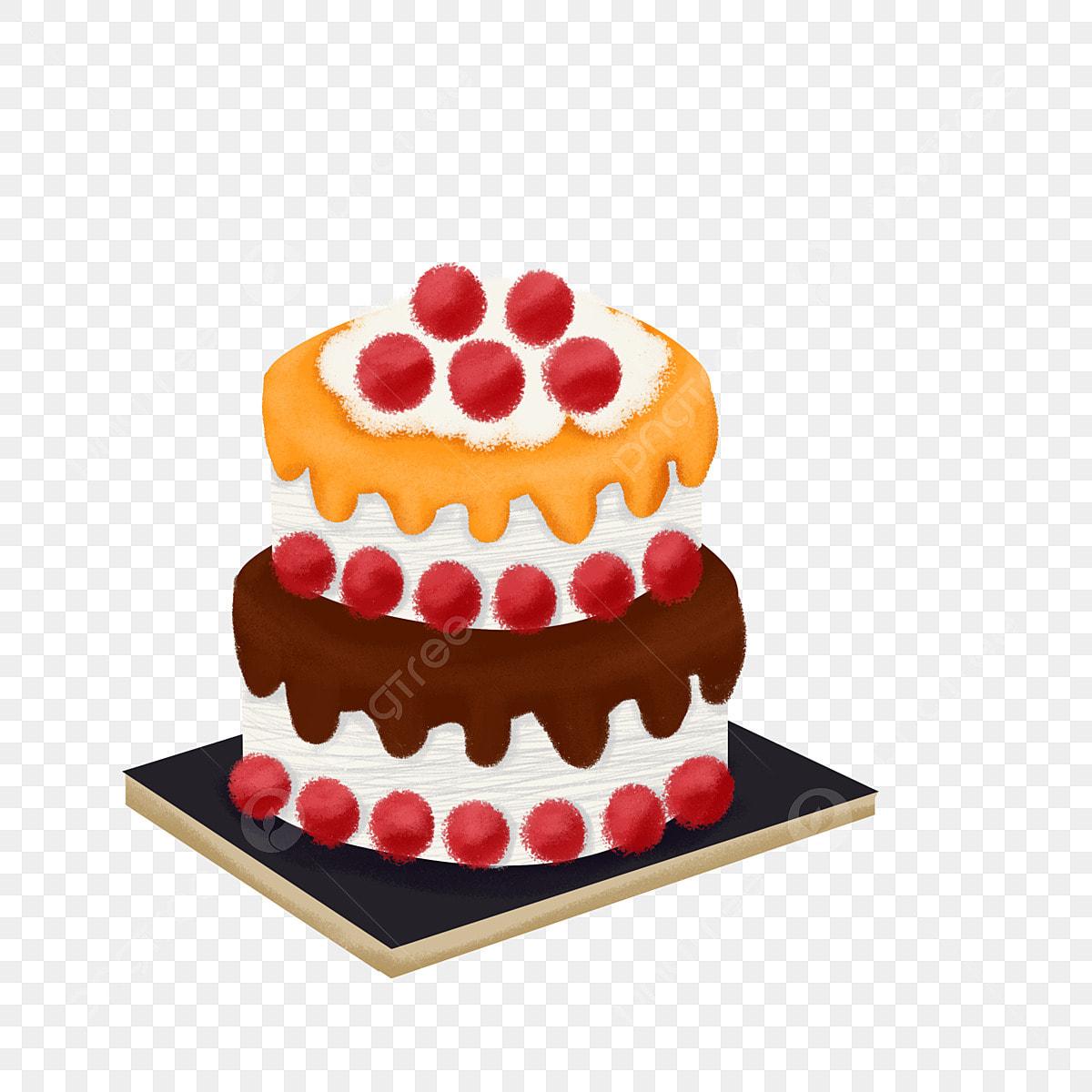 ケーキ イラスト バースデイ