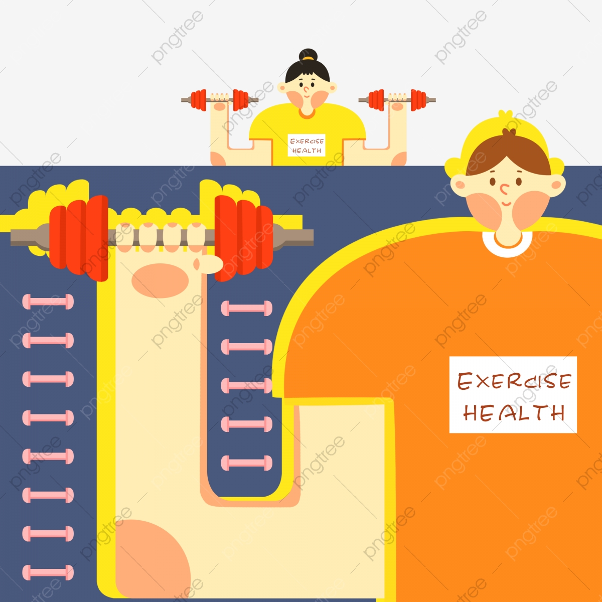 Sport Weight Loss Healthy Male Girl Lifting Dumbbell Illustration Download Dumbbells Net Illustration Png Transparent Clipart Image And Psd File For Free Download