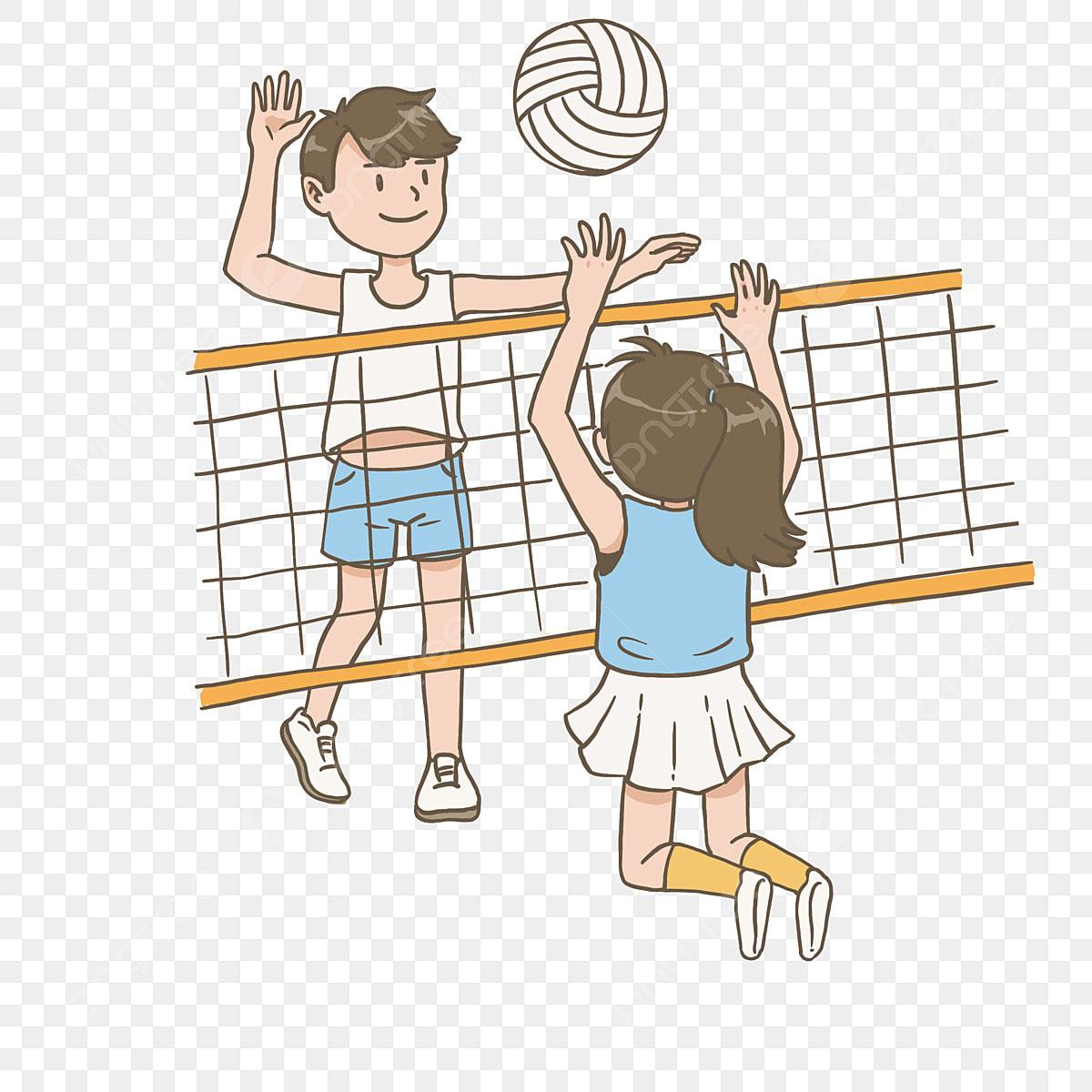 брак мультяшные картинки волейбола основном это