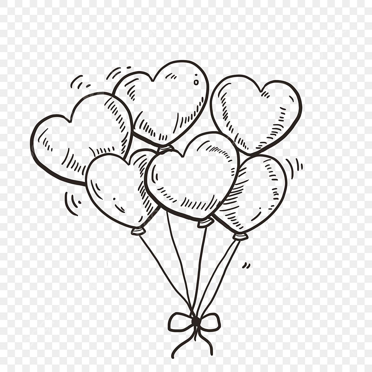 Gambar Doodle Doodle Lukisan Tangan Balon Vektor Belon Belon Percuma Enam Belon Percuma Vektor Png Dan Psd Untuk Muat Turun Percuma