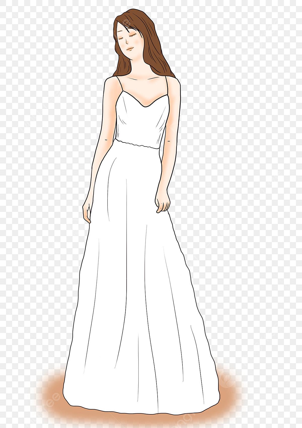 Pernikahan Gaun Pengantin Lucu Kartun Gaya Kecil Download