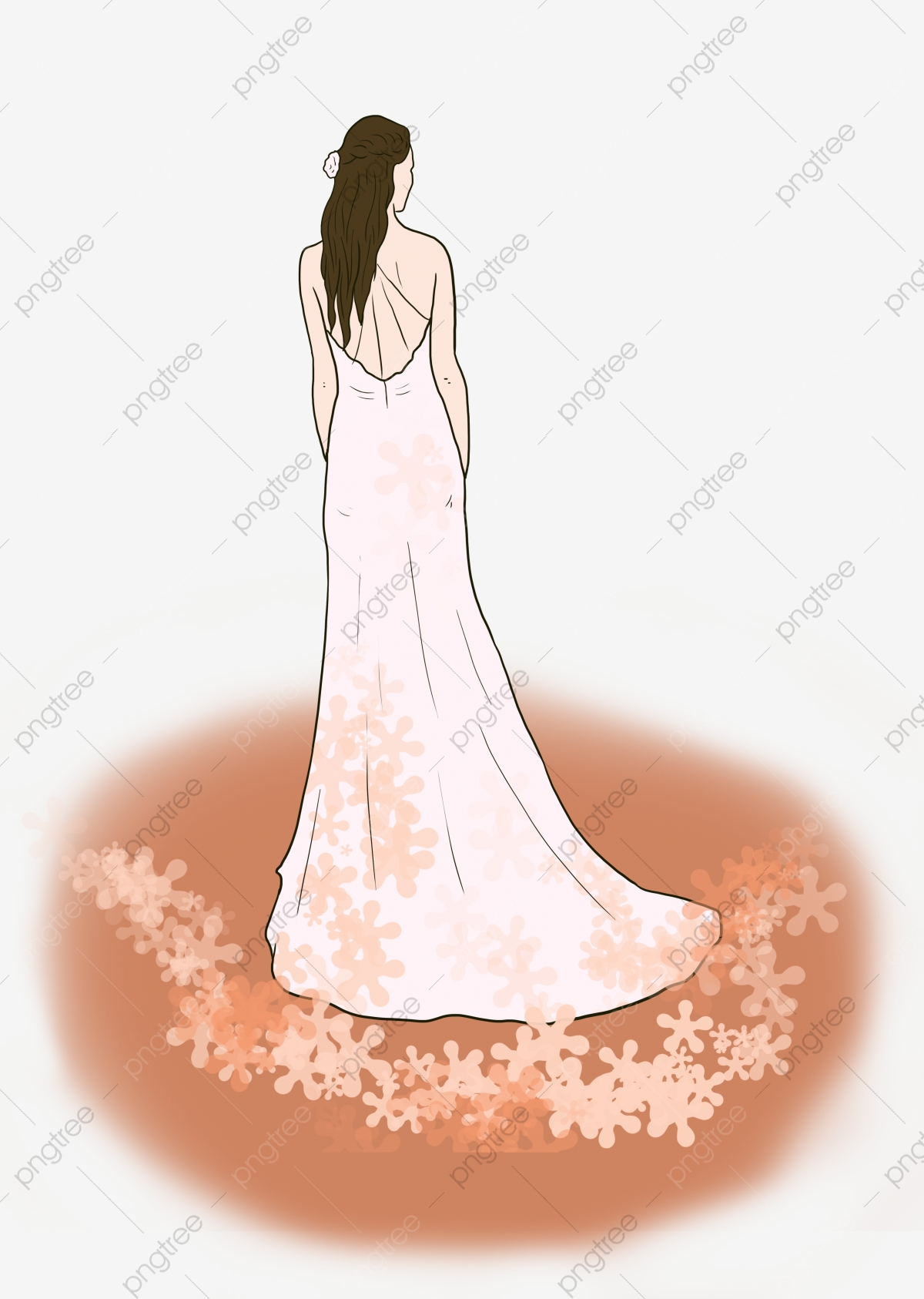 Wedding Wedding Dress Cute Little Fresh Style Flower Cartoon