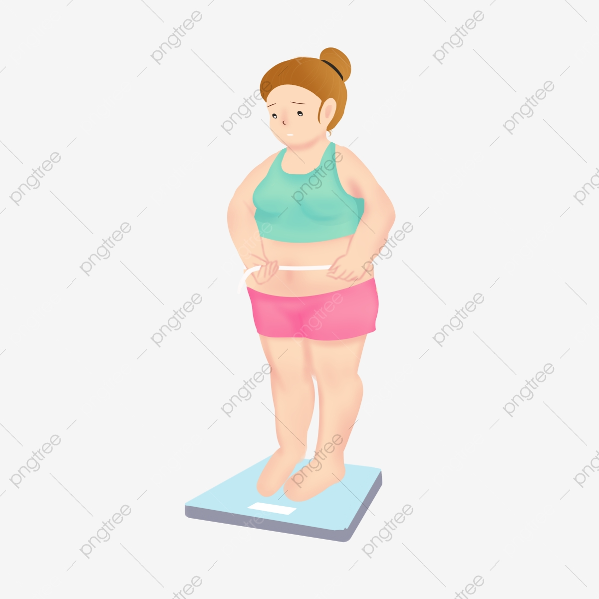 Weight Loss Character Movement Free Buckle Material Weighing Fitness Weight Loss Exercise Png Transparent Clipart Image And Psd File For Free Download