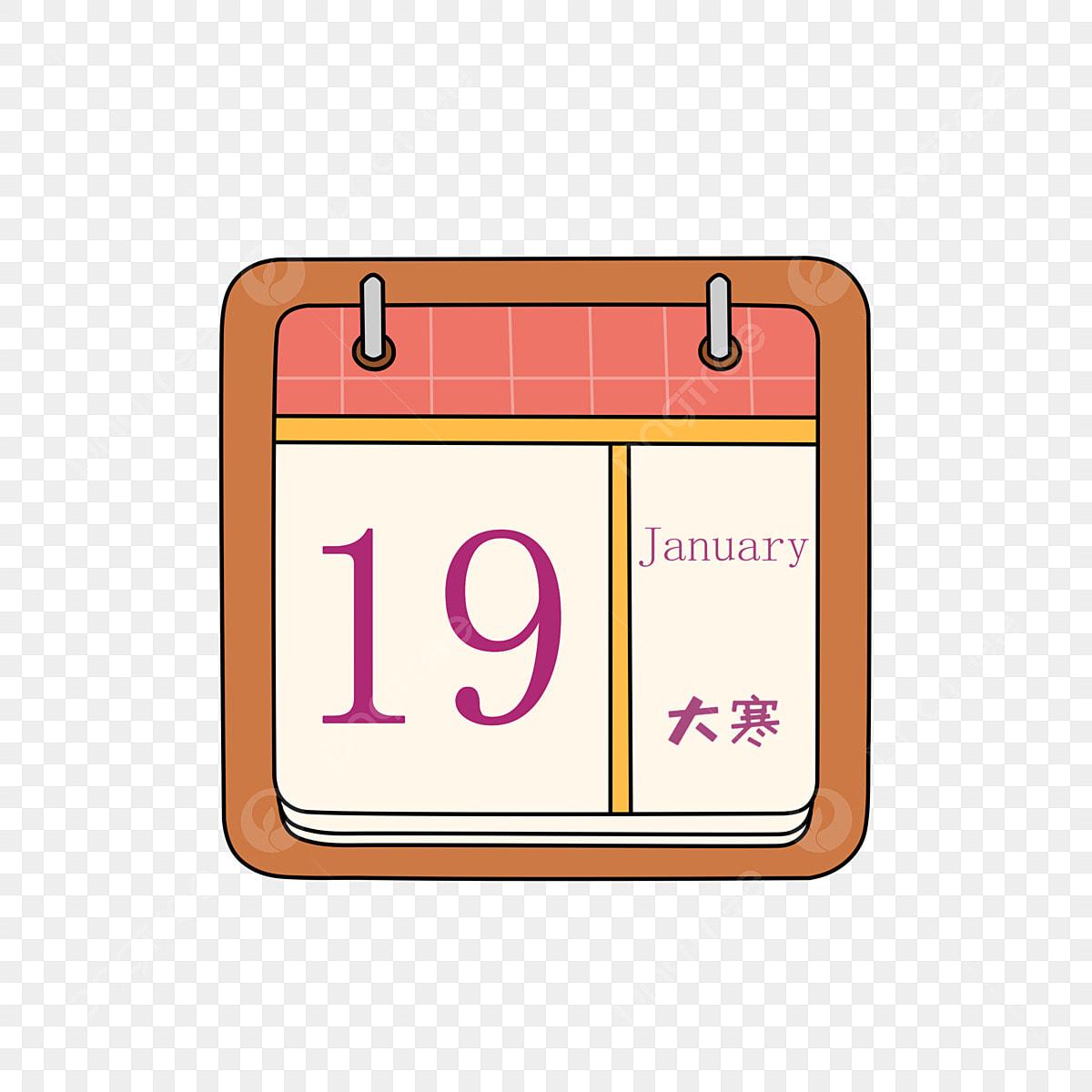 Kalender Kuning Kalendar Ditarik Tangan Kalendar Kartun