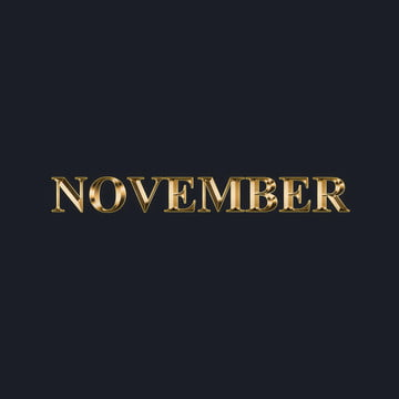 September Month Gold Text Effect Style 2 Art Font For Free
