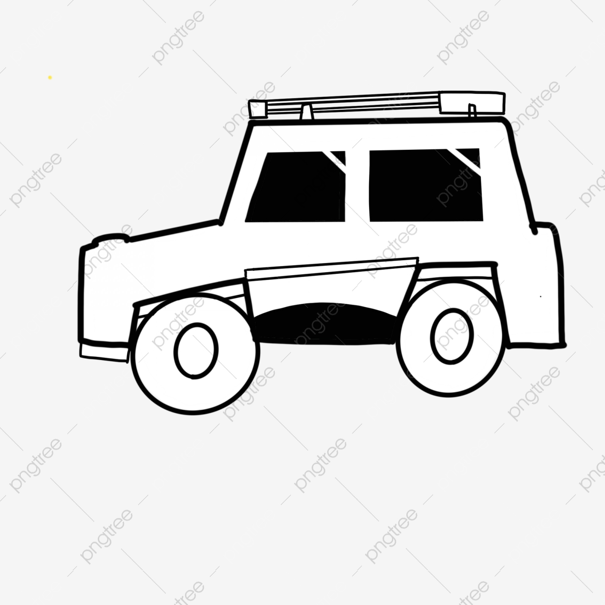 Gambar Memandu Jip Kartun Hitam Dan Putih Hitam Dan Putih Kartun Jeep Png Dan Psd Untuk Muat Turun Percuma