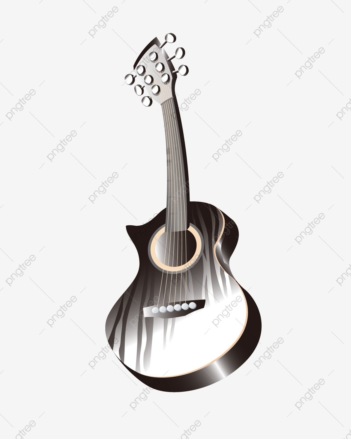 Guitar Electric Clipart Black And White Free Transparent - Guitar Clipart  Black And White, HD Png Download - kindpng