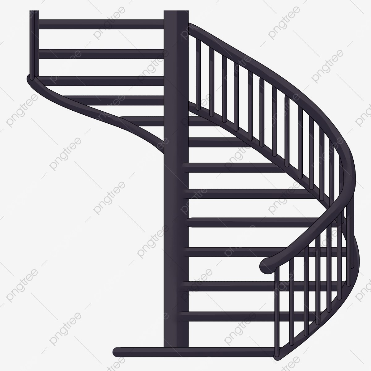 Blue Spiral Staircase Illustration Black Ladder Cartoon Staircase Illustration Stairs Png Transparent Clipart Image And Psd File For Free Download