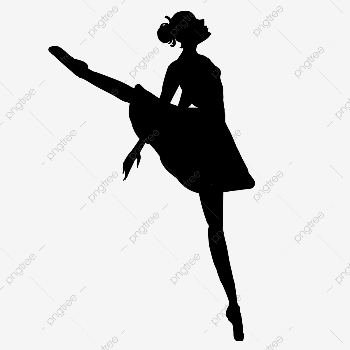 Cartoon Ballet Girl Dancing Silhouette Dancing Silhouette Girl Dancing Silhouette Png Transparent Clipart Image And Psd File For Free Download