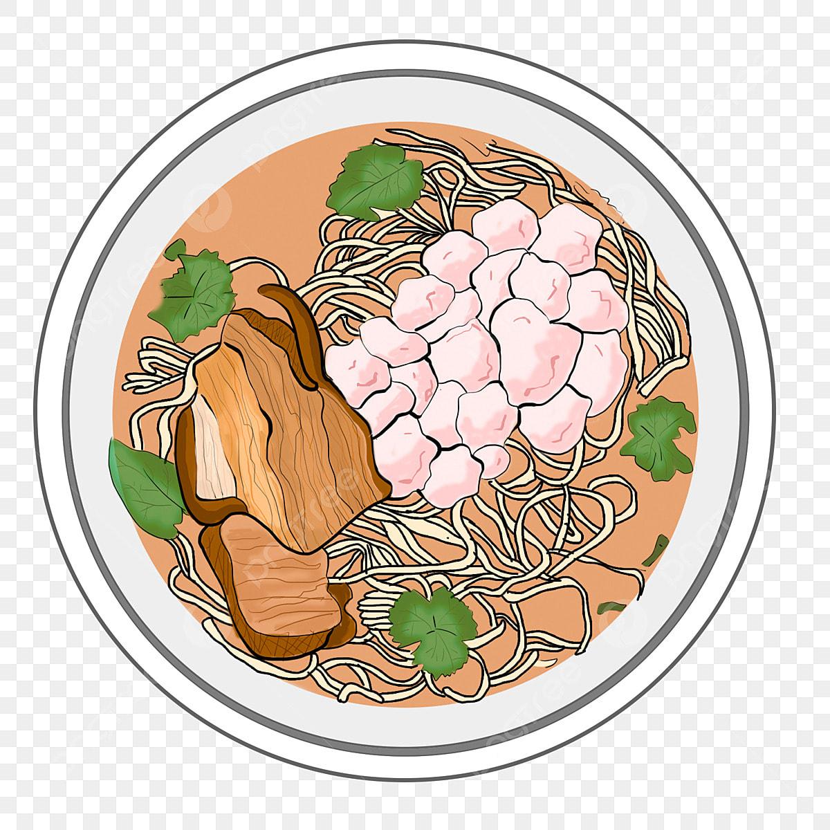 Mangkok Mie Kartun Bakso Makanan Yang Lazat Bakso Kartun 10 Mi