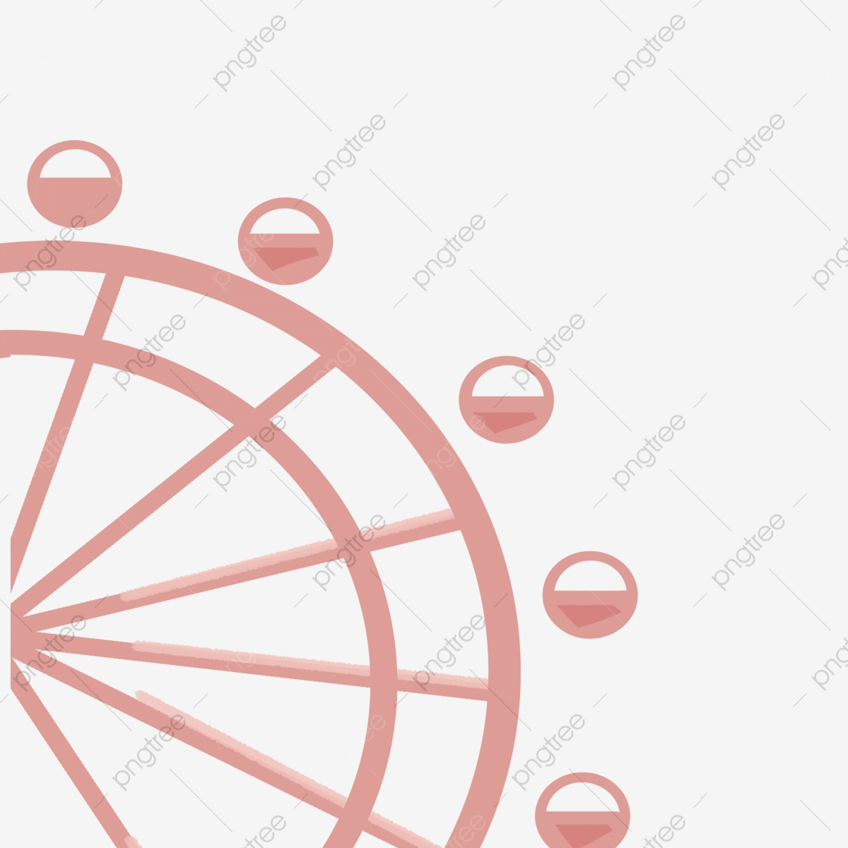 Cartoon Ferris Wheel Download Cartoon Ferris Wheel Flat Ferris Wheel Travel Icon Png Transparent Clipart Image And Psd File For Free Download
