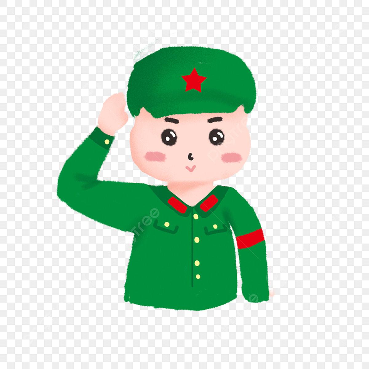 Army Green China China Askar Kartun Watak Budak Kartun Army