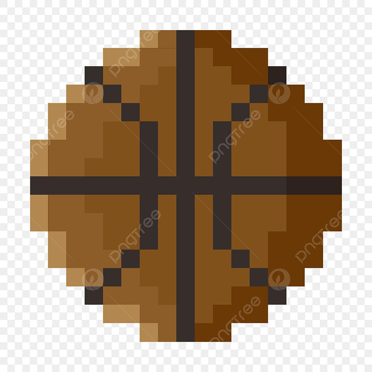 Basket Ball De Sport Basket Ball De Pixel De Dessin Animé
