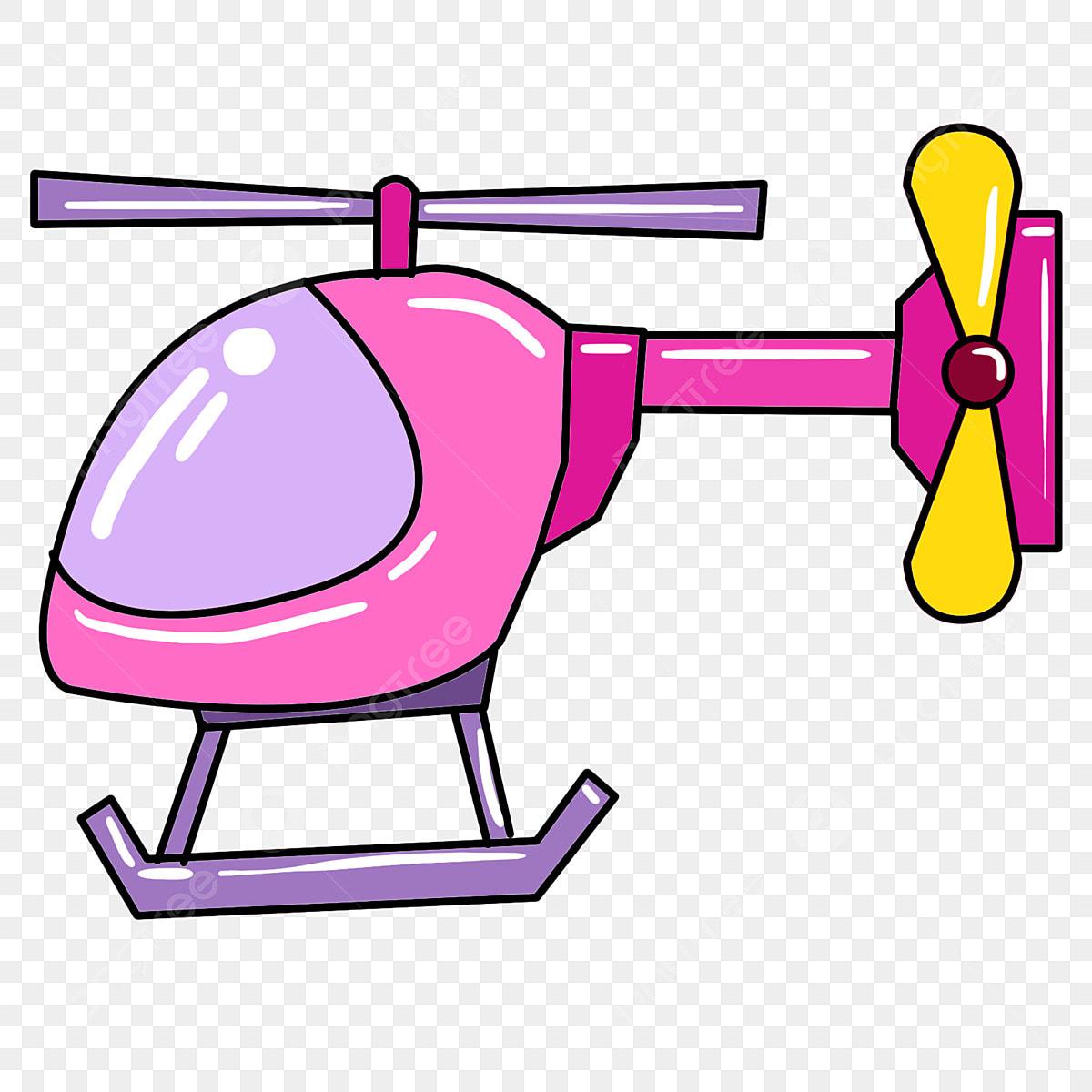 Pesawat Kartun Helikopter Merah Helikopter Kuning
