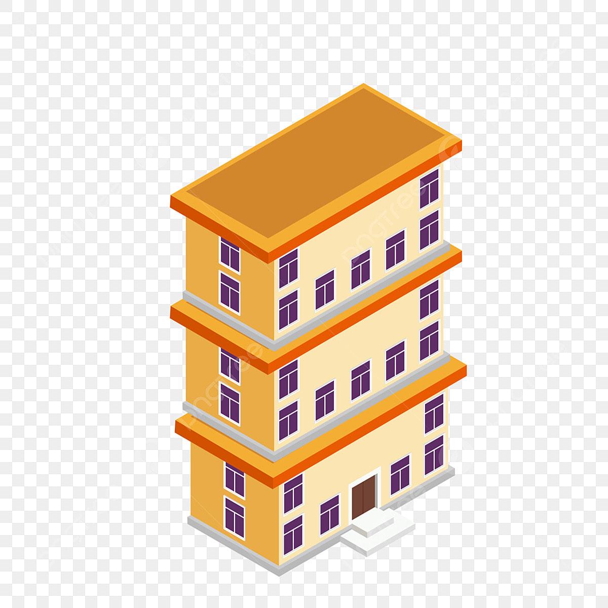 Dibujos Animados Construcción Gratuita Edificio De Tres ...