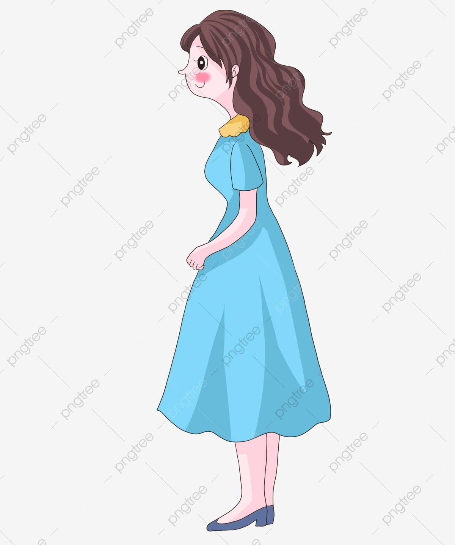 Gambar Kartun Wanita Rambut Panjang Gambar Kartun Angin Datang Ke Arah Wanita Memegang Beg Fesyen Wanita Wanita Cantik Dengan Rambut Panjang Menghadap Kartun Angin Datang Ke Arah Wanita Memegang Beg Kartun Png Dan Psd Untuk Muat Turun