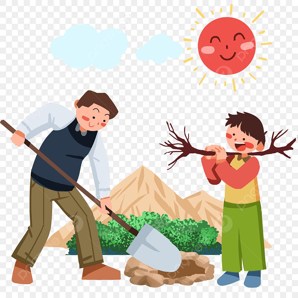 Arbor شخصية اليوم تصوير إبنة شجرة الزراعة الأحمر شمس الطفل الحفرة الأحمر شمس نبات النبات طفل يزرع شجرة طفل شجرة يزرع Png وملف Psd للتحميل مجانا
