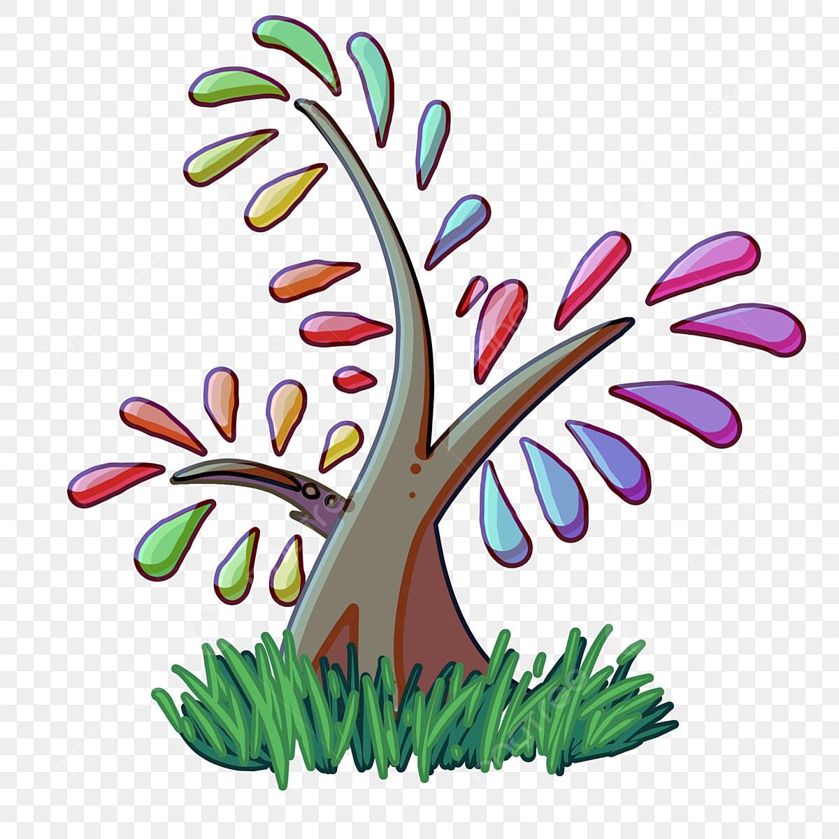 Árboles De Dibujos Animados Hierba Verde Hojas De Colores árboles  Creativos, Rojo, Hierba Verde, Hojas Destacadas PNG y PSD para Descargar  Gratis | Pngtree