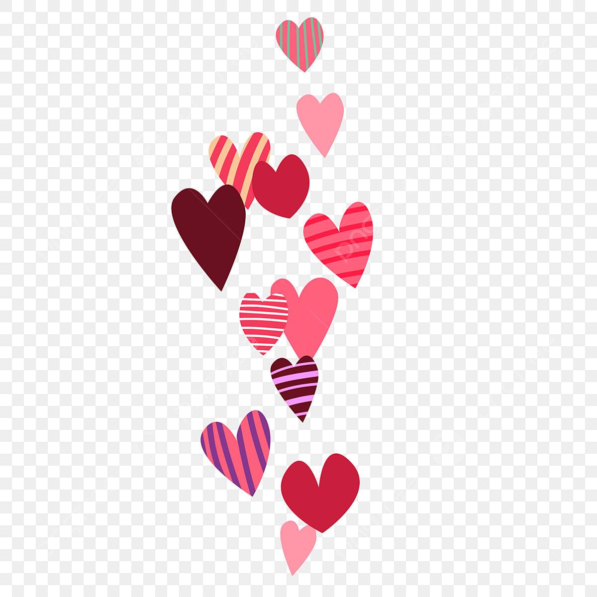 Amour Mignon Et Diversifié Amour De La Couleur Du Dessin