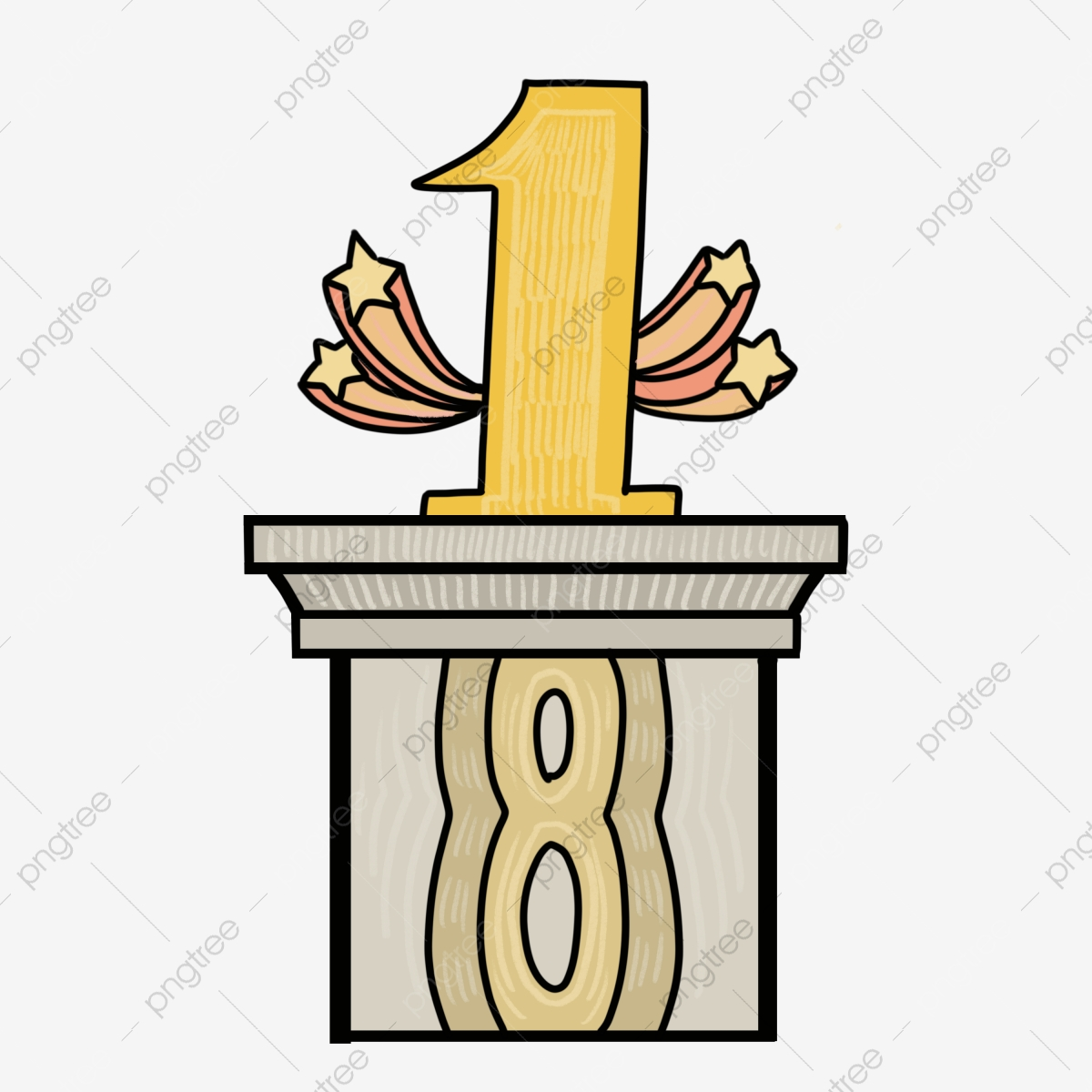 Cartoon Gold Medal, Award, Badge, 1st Place Gold Medal, Trophy, Prize,  Yellow, Symbol transparent background PNG clipart | HiClipart