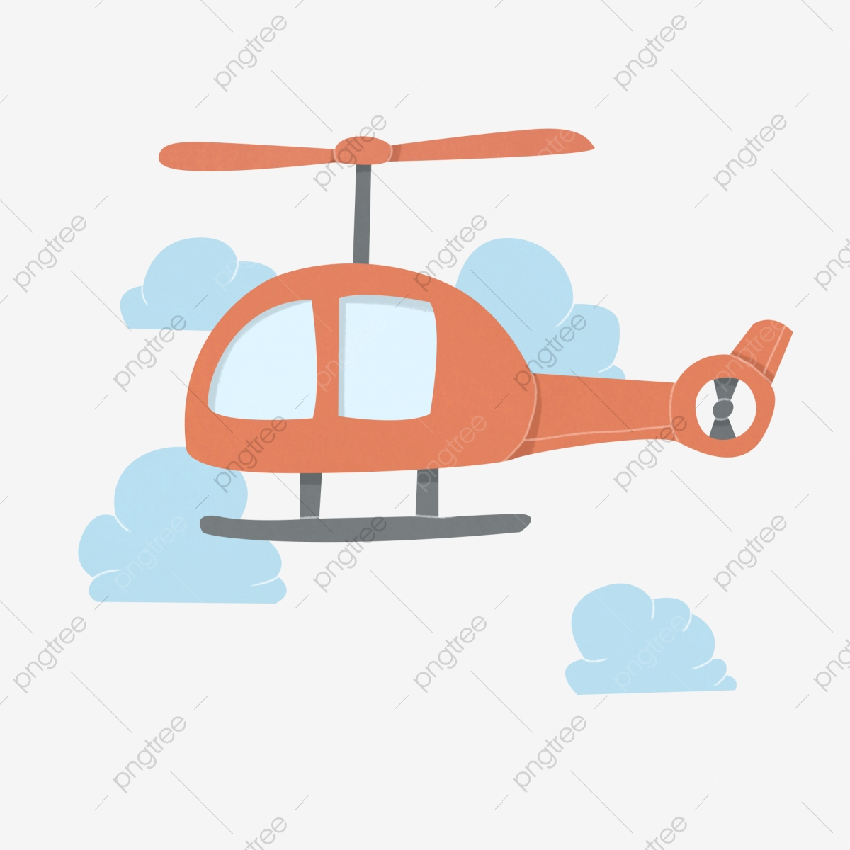Pesawat Contoh Helikopter Ilustrasi Helikopter Kartun Awan