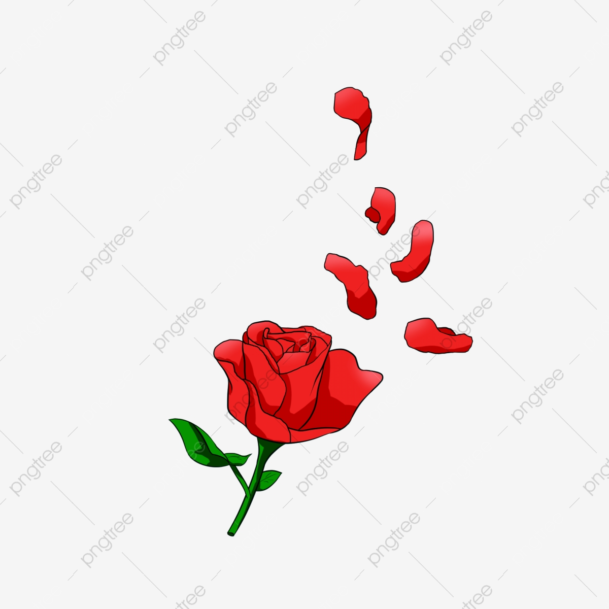 Rose Petal Flower Clip Art