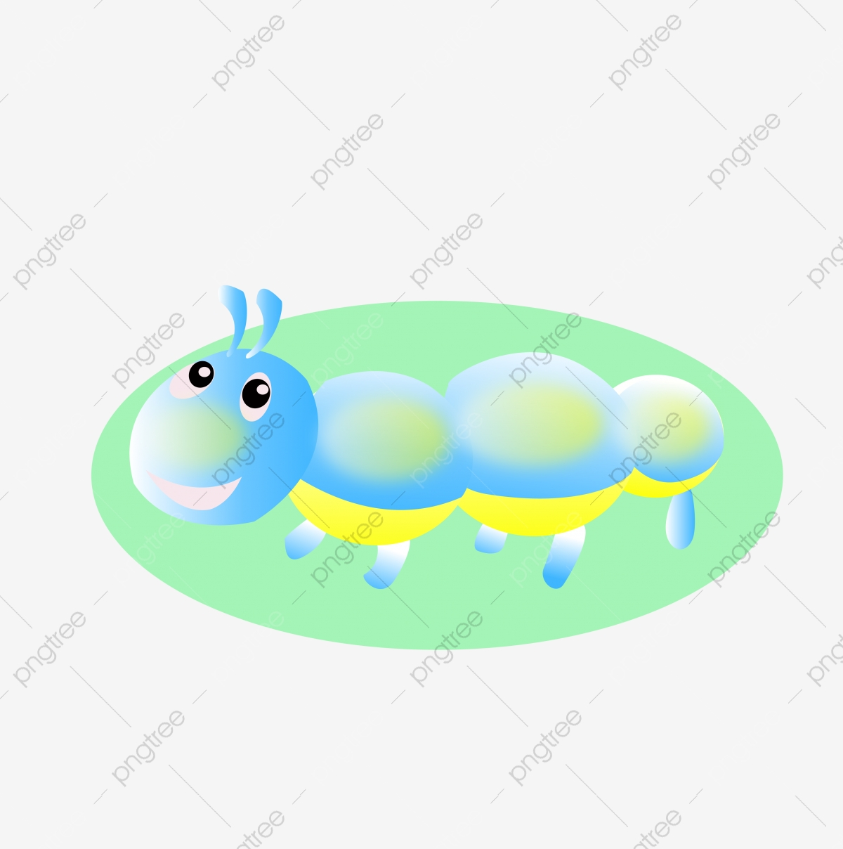 Clipart of a Cute Blue Caterpillar - Royalty Free Vector Illustration by  Vector Tradition SM #1257469