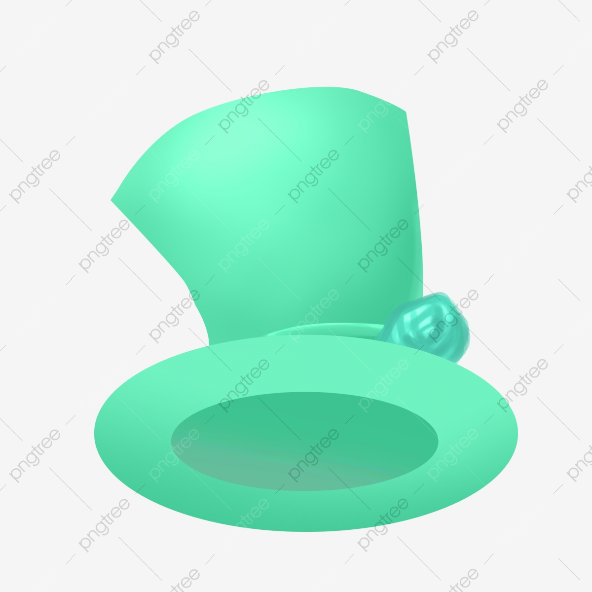 Green Cartoon Top Hat Illustration Top Hat Hat Card Hat Png