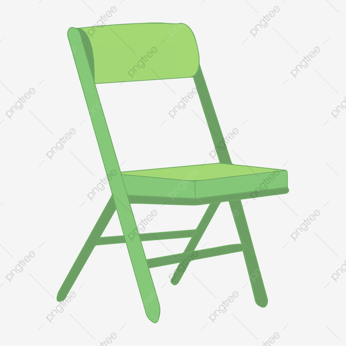 Green Folding Chair Seat Chair Furniture Png Transparent