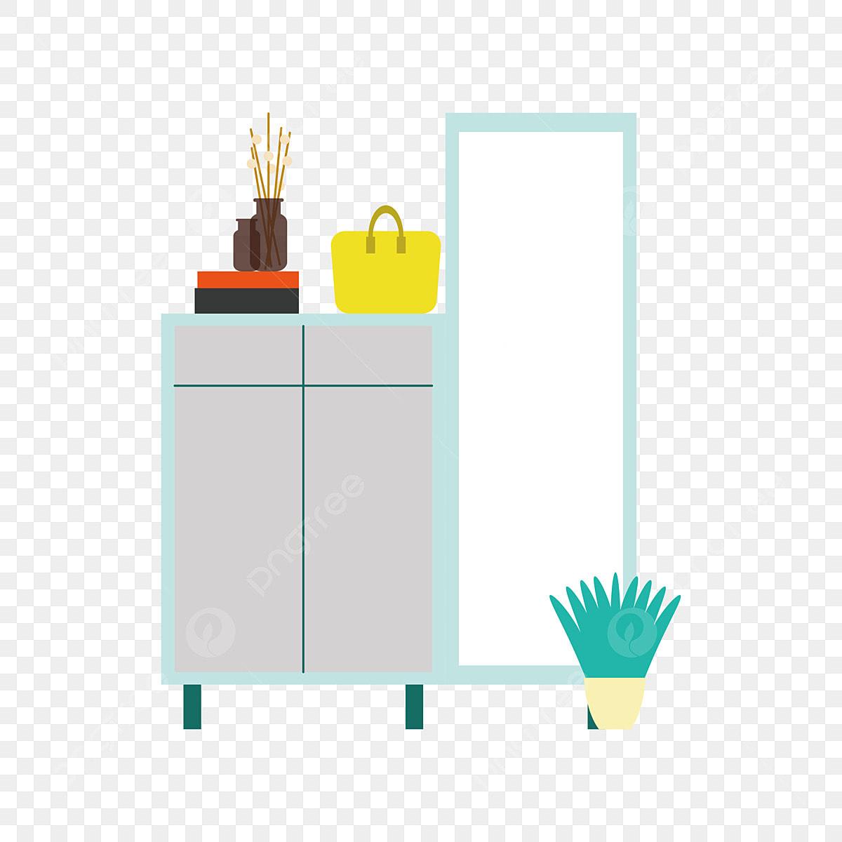 Plan De Meuble A Chaussures miroir meuble à chaussures meubles illustration, chaussure