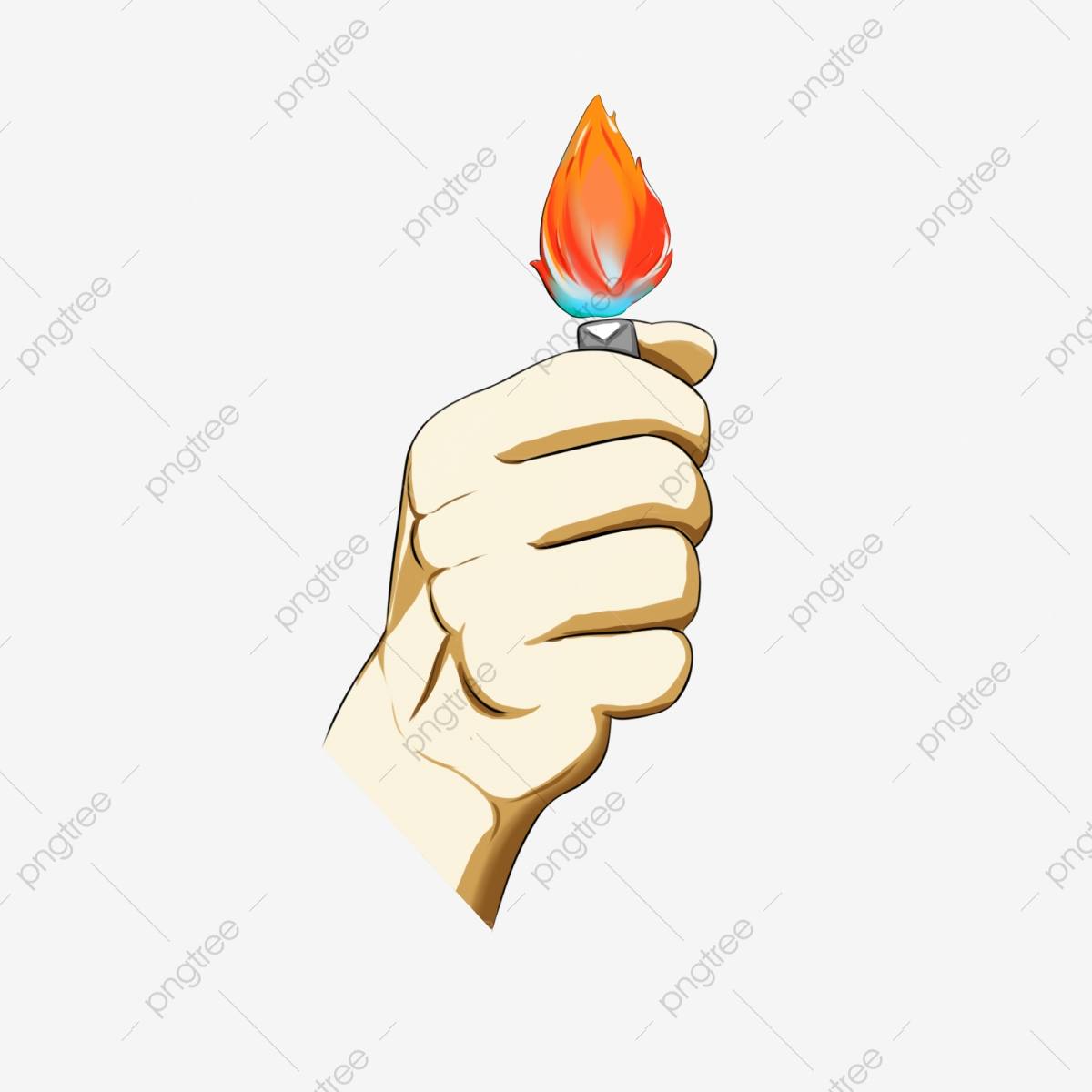 Hand Gesture Of Catching A Lighter Fire Gesture Take