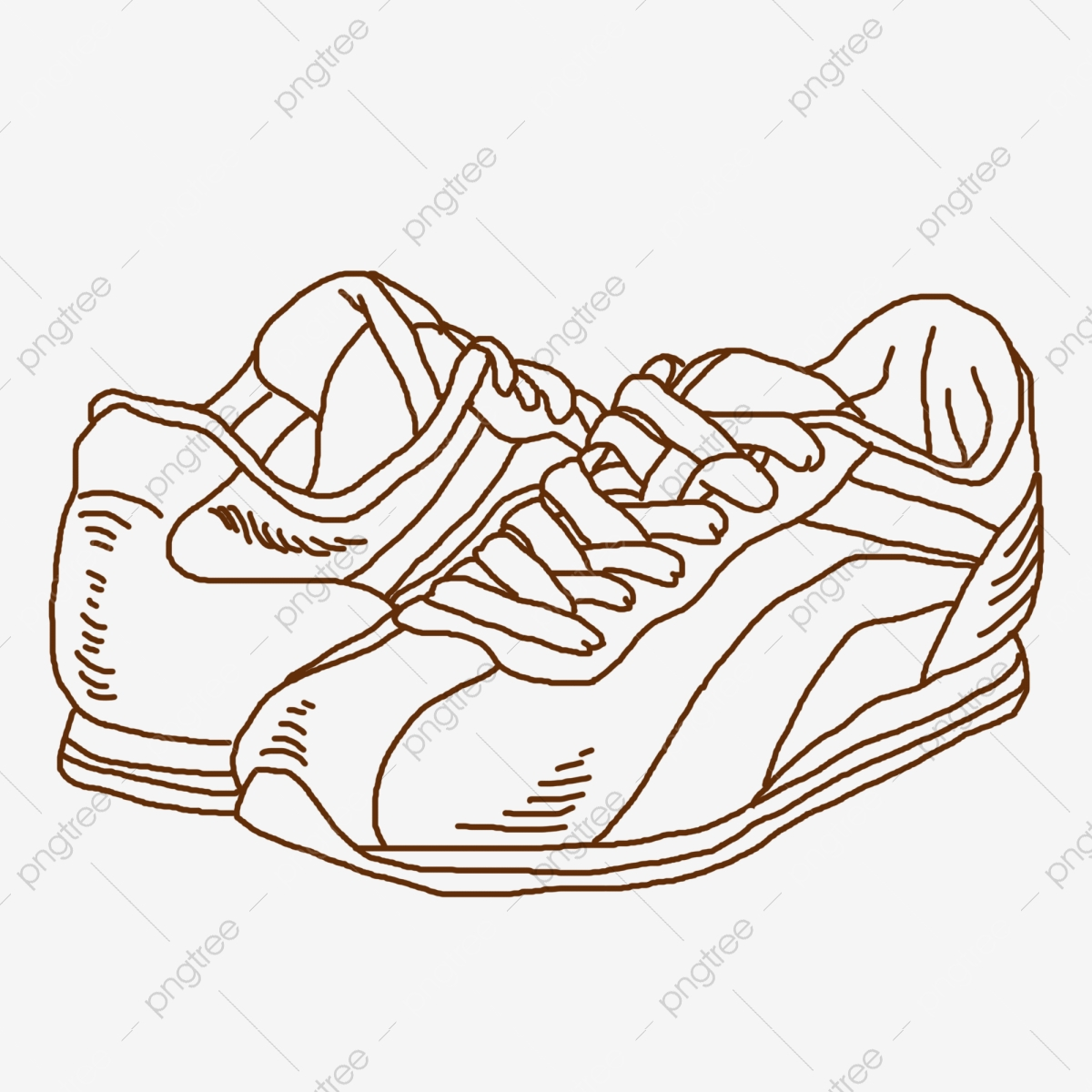 Line Drawing Sneakers Hand Drawn Illustration Line Drawing