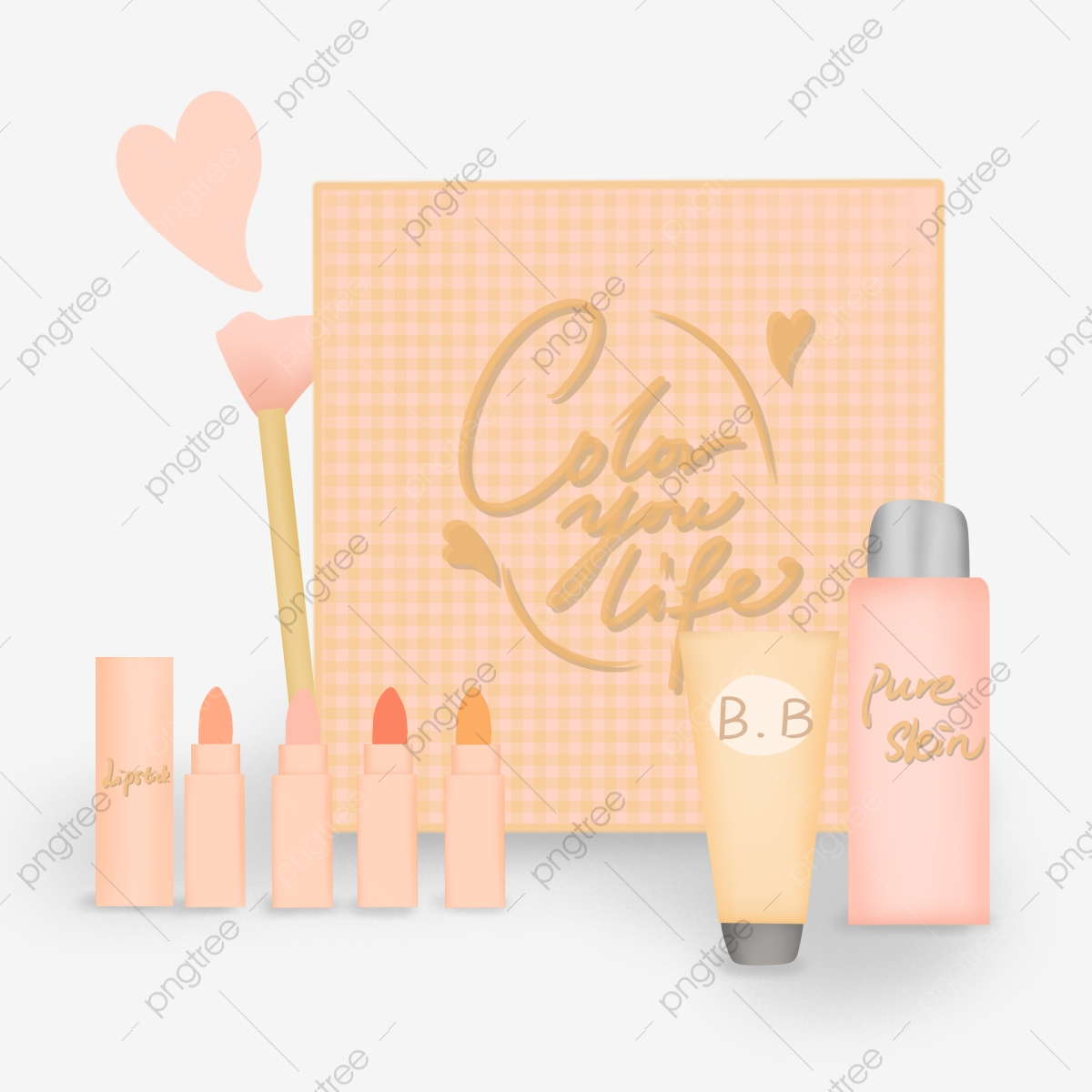 Macaron Powder Girl Heart Makeup Gift