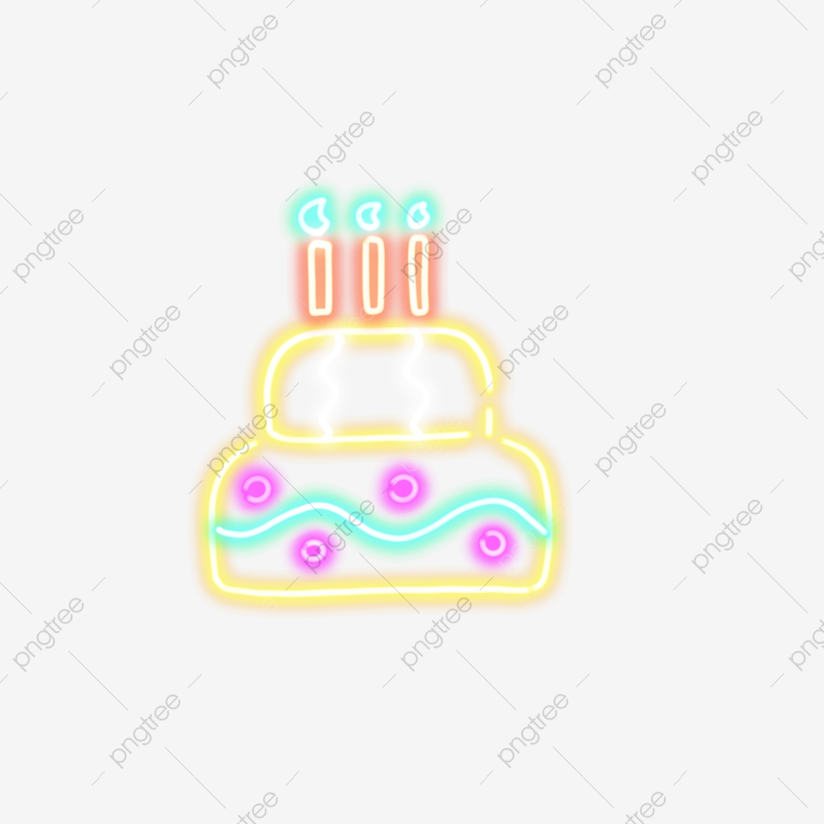 Incredible Neon Birthday Cake Neon Birthday Cake Candle Png Transparent Funny Birthday Cards Online Alyptdamsfinfo
