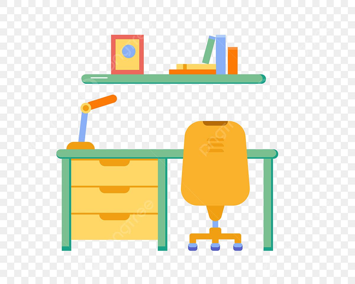 Gambar Lampu Meja Kuning Rak Buku Hijau Kerusi Kuning Kerusi Lampu Meja Kuning Pejabat Kerusi Png Dan Vektor Untuk Muat Turun Percuma