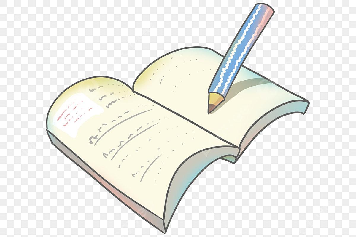قلم كرتون أزرق كتاب مفتوح كتب كتب رسم كتاب افتتح التوضيح Png وملف Psd للتحميل مجانا